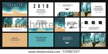 Azure Flyer Template | Azure Coast Color Elements On White Vectores En Stock 719887297