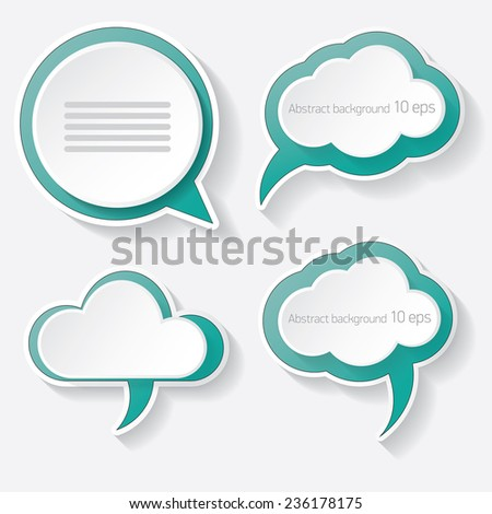 azure modern paper banners set / can be used for infographics / numbered banners / horizontal cutout lines / graphic or website layout vector - stock vector