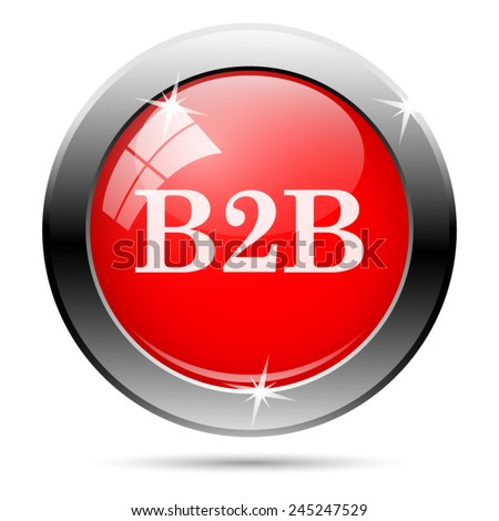 B2B icon. Internet button on white background.  - stock vector