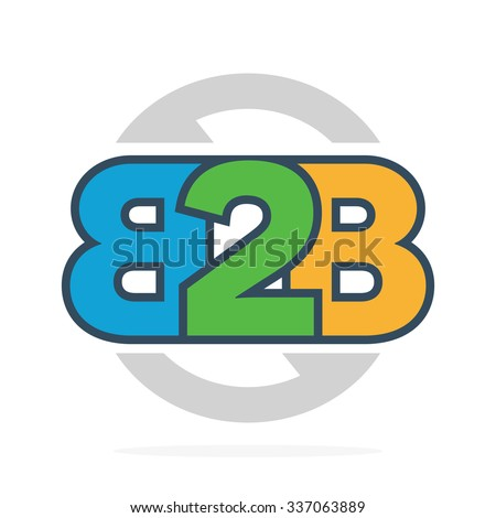 B2B letters logo or icon. Business to Business symbol - stock vector