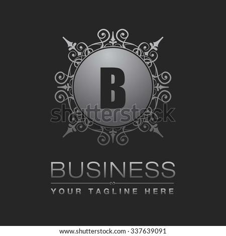 B Letter Logo Monogram Design Elements Stock Vector 337639091 ...