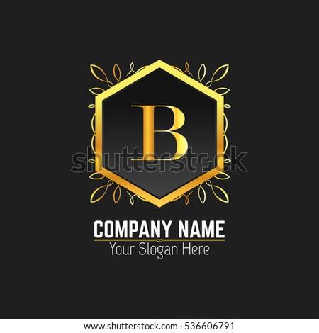 B Letter Logo Monogram Design Elements Stock Vector 536606791 ...
