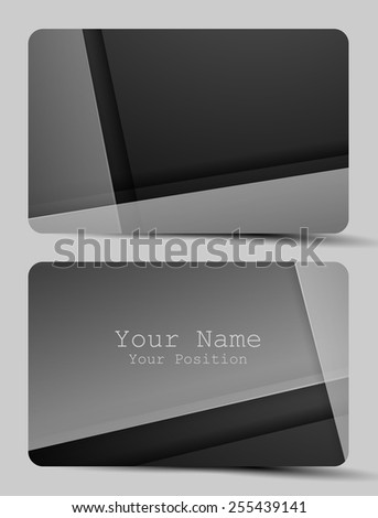 B&W business card templates with copy space. Eps10 - stock vector