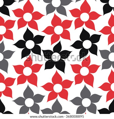 Baby and kids floral cute background, beautiful seamless pattern with flowers, wrapping paper, fashion trendy fabric, summer and spring style, simple template for design - stock vector