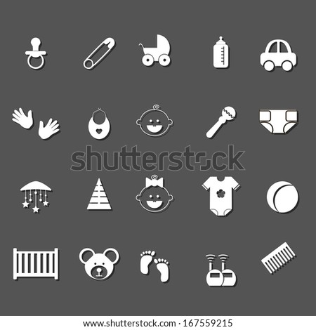 Baby and newborn icon set.Vector Illustration. - stock vector