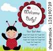 baby arrival card. vector illustration - stock vector