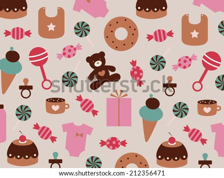 baby background - stock vector