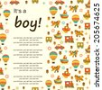 Baby background with place for text - stock vector