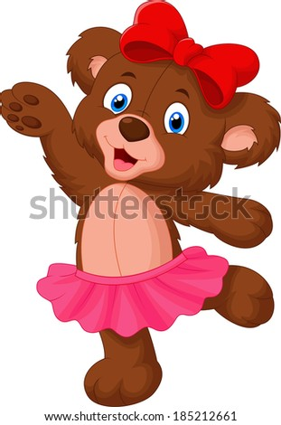 Baby bear  - stock vector