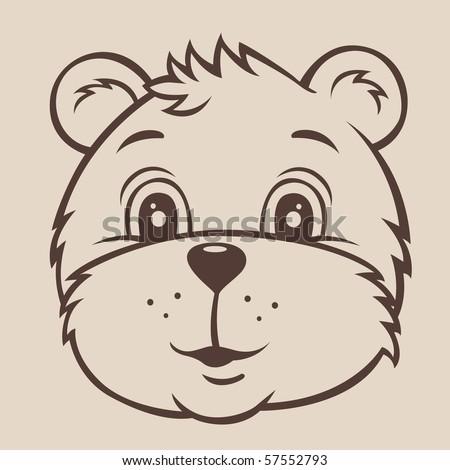 Baby bear - stock vector