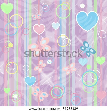 Baby beautiful background (vector version eps 10) - stock vector