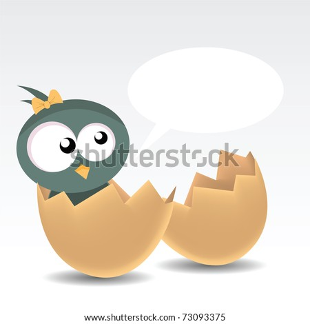 baby bird - stock vector