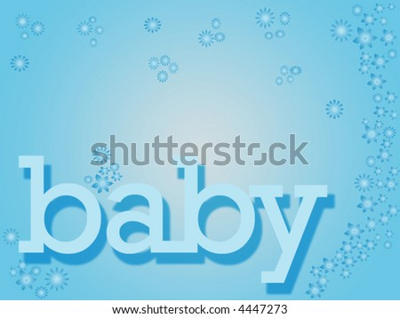 baby blues - stock vector