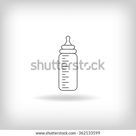 Baby Bottle Icon. Vector Illustration - stock vector