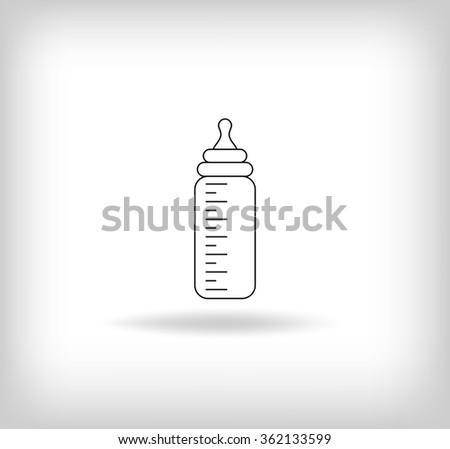Baby Bottle Icon. Vector Illustration - stock vector