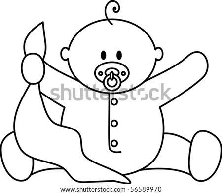 Baby Boy - stock vector