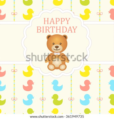 stock-vector-baby-boy-arrival-card-baby-shower-card-newborn-baby-card ...