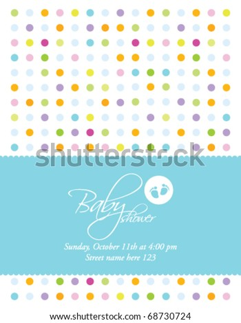Baby boy arrival card with copy space - stock vector