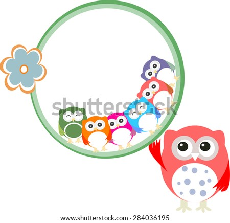 baby boy card with flowers and owl background vector