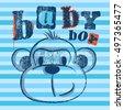 baby boy monkey illustration on ...