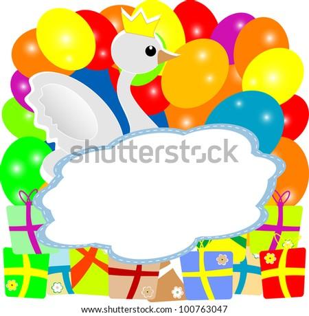 Baby boy shower invitation duck crown stock vector 100763047 baby boy shower invitation with duck in crown vector stopboris Image collections