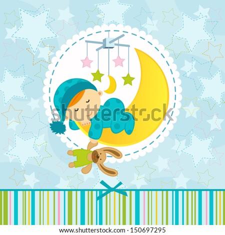 baby and moon stock vectors amp vector clip art shutterstock