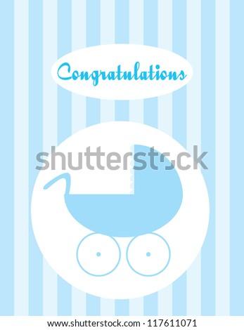 Baby card - stock vector