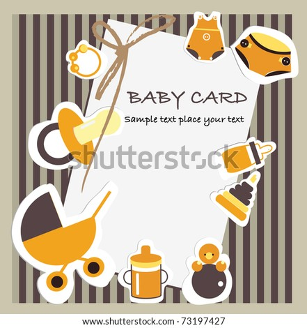 Baby card - stock vector