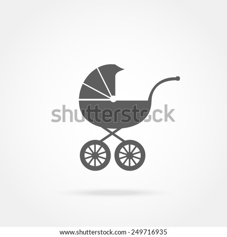 Baby carriage icon - stock vector