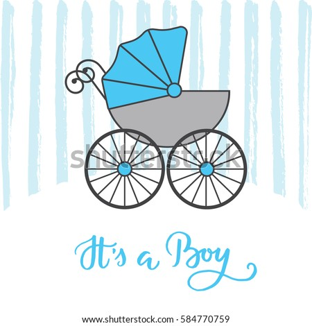 Vector Greeting Card Baby Shower Stock