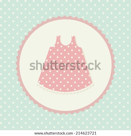 Baby clothes. Dress. Vector illustration - stock vector
