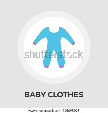 Baby Clothes Icon Vector. Flat icon isolated on the white background. Editable EPS file. Vector illustration. - stock vector