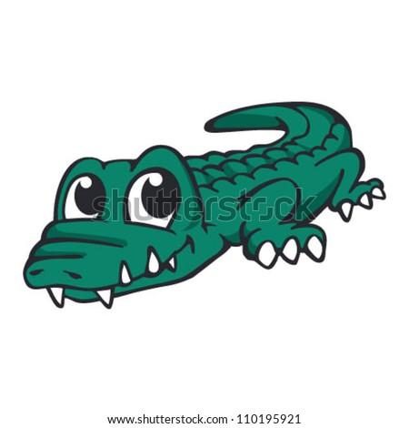 Baby Crocodile - stock vector