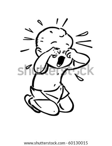 Image result for baby crying clipart