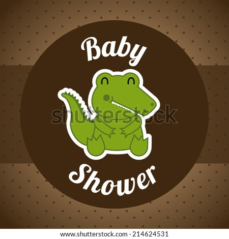 baby design over brown  background vector illustration - stock vector