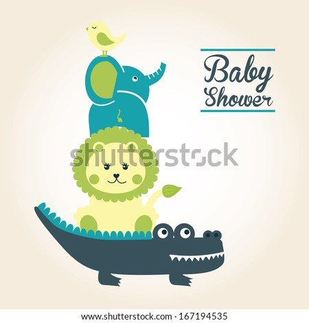 baby design over pink  background vector illustration - stock vector