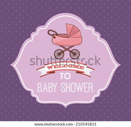 baby design over purple background vector illustration - stock vector