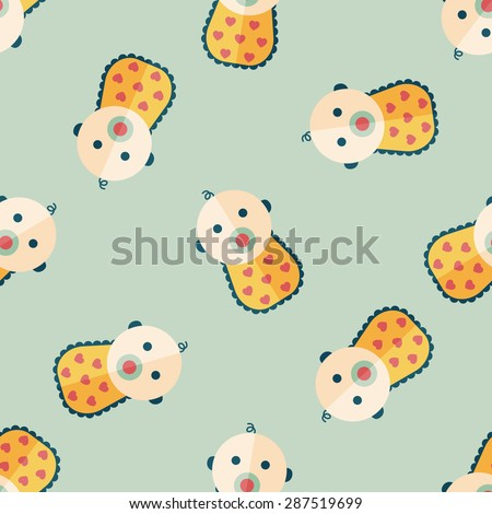 baby flat icon,eps 10 seamless pattern background - stock vector