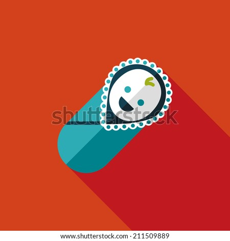 baby flat icon with long shadow - stock vector