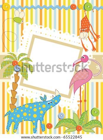 Baby frame or card. Vector - stock vector