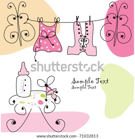 baby girl - stock vector