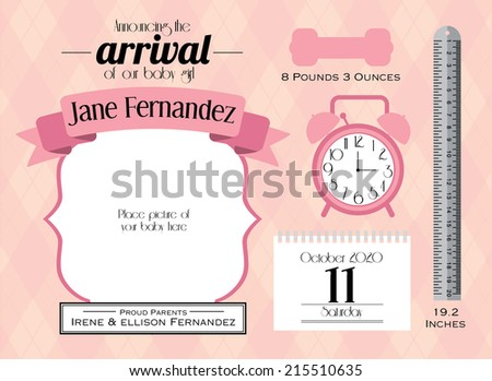 Baby Announcement Stock Images, Royalty-Free Images & Vectors