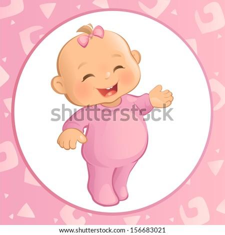 Baby Girl (Vector) - stock vector