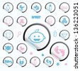 Baby icons, stickers - stock vector