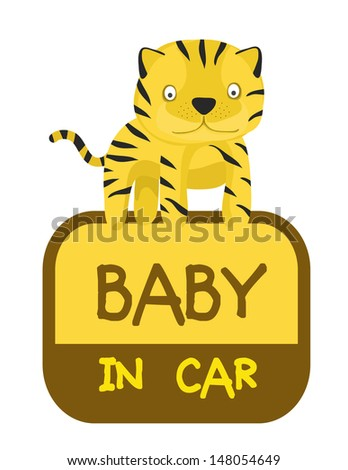 baby in car sticker,animal tag collection