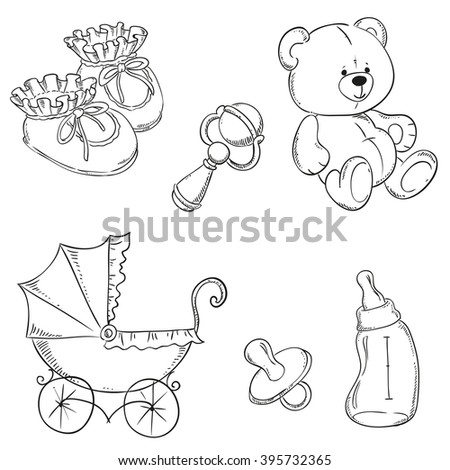 baby item coloring pages - photo#17