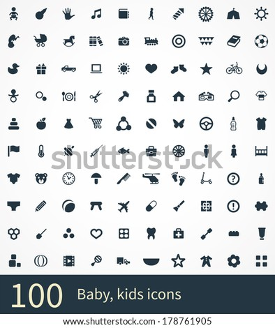 baby, kids Icons Vector set