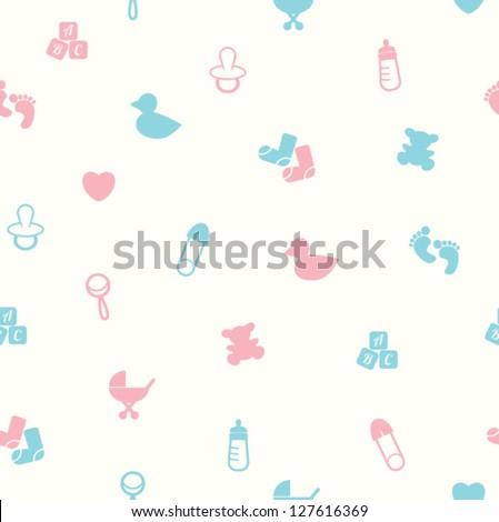 baby pattern - stock vector