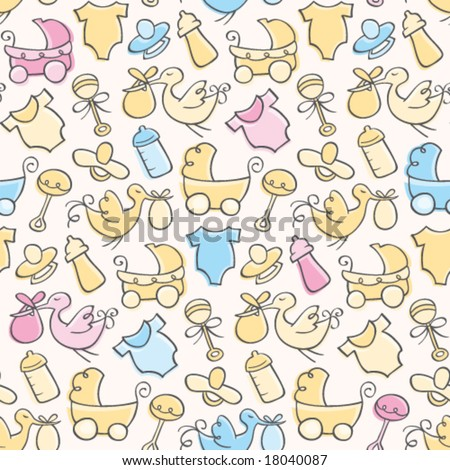 Baby Pattern - stock vector