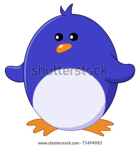 Baby penguin - stock vector